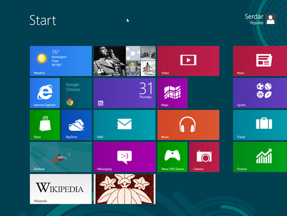 Windows 8 Metro Start Menu