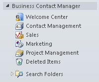 Find Business Contact Manager in Outlook
