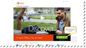 Office 365 Sign-Up Page